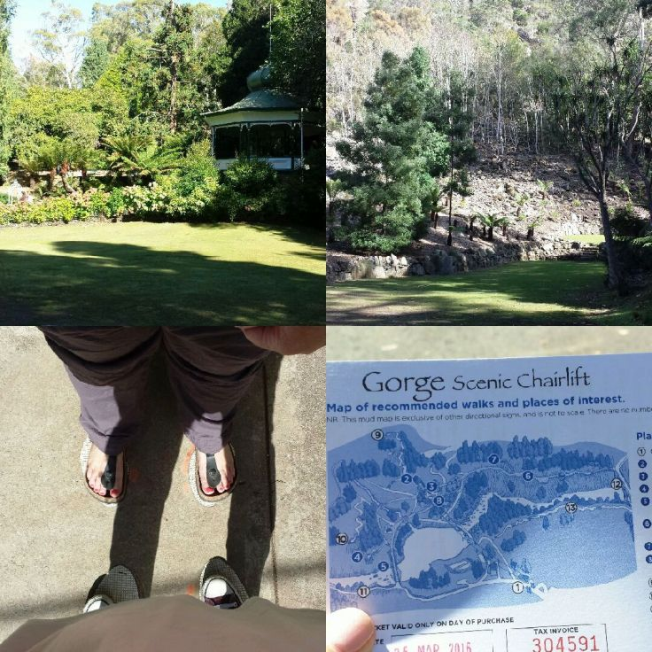 Beautiful Cataract Gorge Reserve (+ toe-to-toe at the chairlift station)